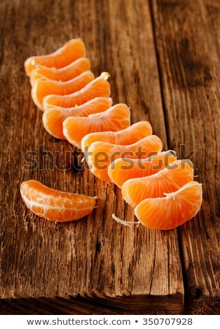 several mandarins placed on a table Stock photo © philipimage