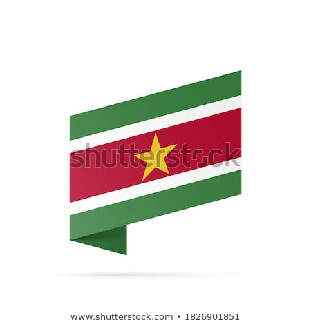 Суринам · флаг · кнопки · Мир · зеленый · Африка - Сток-фото © mayboro1964