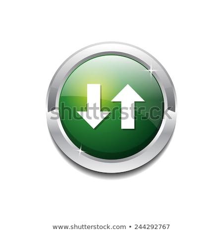Lefelé kulcs körkörös vektor lila webes ikon Stock fotó © rizwanali3d