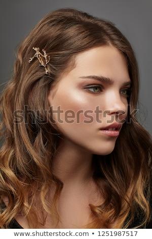 moda · morena · mulher · bonita · longo · rosa - foto stock © master1305