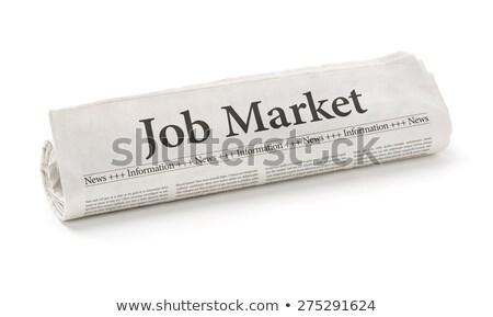 Tekert újság főcím állás piac iroda Stock fotó © Zerbor