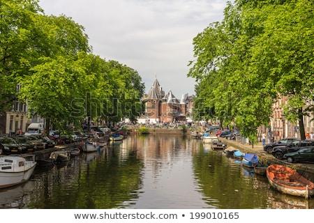 старые · воды · ворот · Голландии · здании · лет - Сток-фото © andreykr