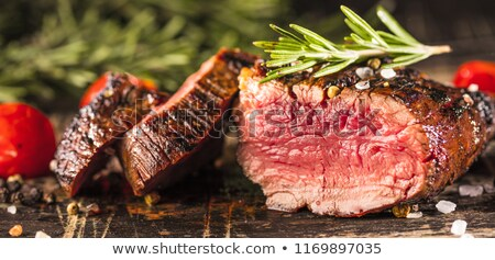 Groenten kebab kok lunch dieet olijven Stockfoto © fanfo