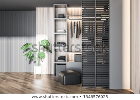 different modern wooden wardrobes Stock photo © ozaiachin