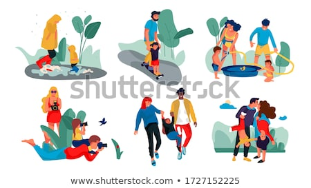 happy sports woman wlaking outdoors stock photo © deandrobot