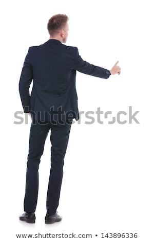 business man pushing button stock photo © fuzzbones0
