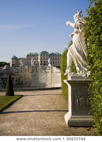 Statue at Belvedere palace in Vienna, Austria in the morning Stock photo © AndreyKr