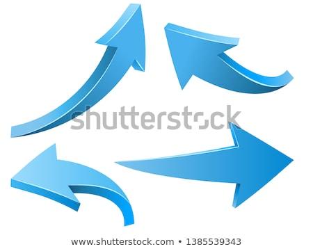 Flecha signos establecer moda tecnología azul Foto stock © shawlinmohd