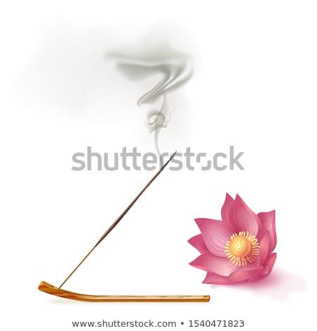 Incenso vara ardente relaxar chama meditação Foto stock © devulderj