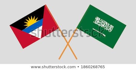 Saudi Arabia and Antigua and Barbuda Flags Stock photo © Istanbul2009