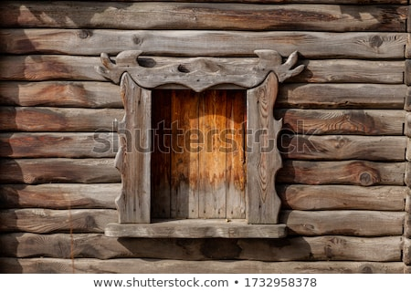 Abandoned cabin in the woods window Stock photo © Juhku