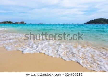 Turva mar praia ilha Tailândia Foto stock © Yongkiet
