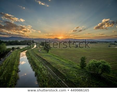 sunrise · prairie - photo stock © pixelsaway