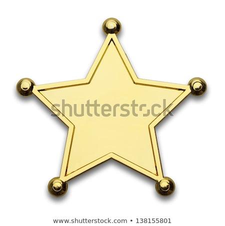 Deputado estrela distintivo isolado branco escritório Foto stock © Bigalbaloo