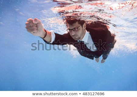 ストックフォト: Underwater Businessman