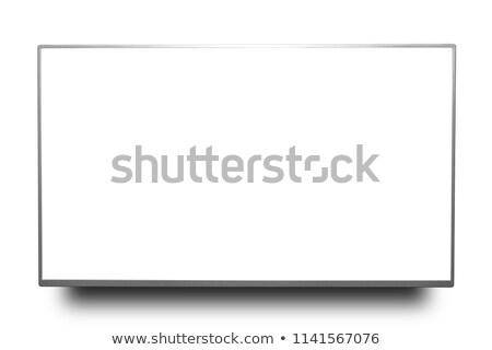 LCD Screen tv blanco negocios televisión Foto stock © ozaiachin
