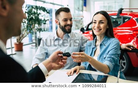 man hand holding new car key stock photo © szefei