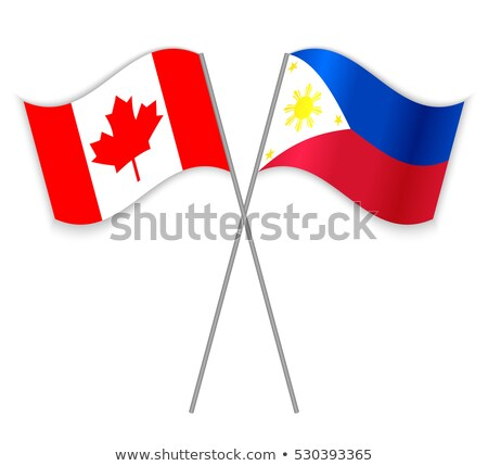 Canada and Philippines Flags Stock photo © Istanbul2009