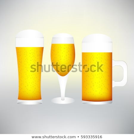 Glasses of beer with froth- excellent quality Stock photo © ozaiachin