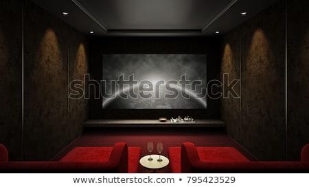 sinema · iç · müzik · ev · film · mavi - stok fotoğraf © Paha_L