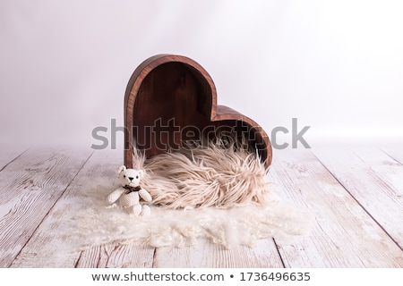 karácsony · dekoráció · fából · készült · szívek · textúra · szeretet - stock fotó © oleksandro