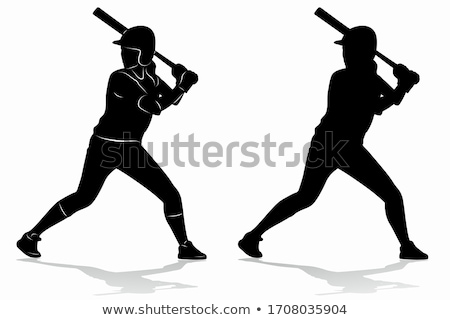 Softball Girl Stock photo © x7vector