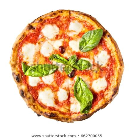 tradicional · italiano · pizza · branco · ingredientes · queijo - foto stock © paulovilela