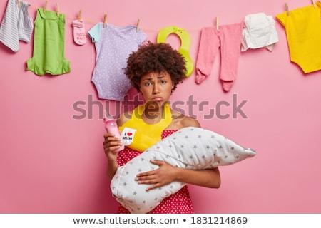 baby female and pink bib Stock photo © adrenalina