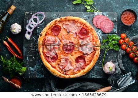 Saboroso italiano pizza calabresa isolado Foto stock © fanfo