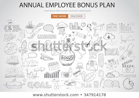 Dipendente bonus vantaggio piano doodle design Foto d'archivio © DavidArts