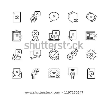 негативных · линия · икона · уголки · веб · мобильных - Сток-фото © rastudio