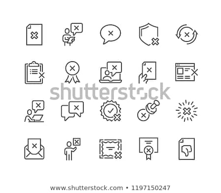 Negativos línea icono web móviles infografía Foto stock © RAStudio