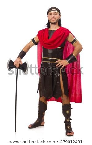 Gladiator geïsoleerd witte man grappig Stockfoto © Elnur