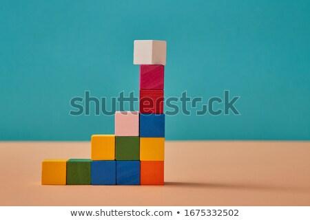 Create - an inscription from children's blocks Stock photo © CaptureLight