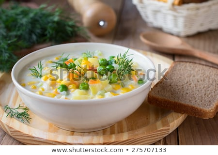 Zöldségek krémes leves finom házi készítésű brokkoli Stock fotó © zhekos