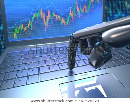 ロボット · トレーダー · 実例 · コンピュータ · オフィス · 技術 - ストックフォト © idesign