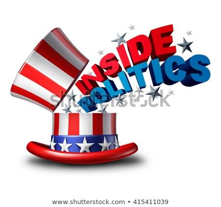 amerikaanse · verkiezing · beslissing · USA · lopen - stockfoto © lightsource