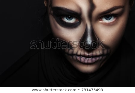 Girl with creative make-up for halloween Stock photo © artfotodima