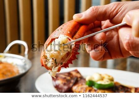 ıstakoz akşam yemeği kırmızı taze okyanus Stok fotoğraf © Lightsource