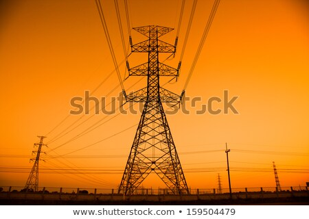 transmission line on an orange background Stock photo © mayboro