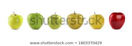 セット リンゴ バナー リンゴ 緑 デザイン ストックフォト © Voysla