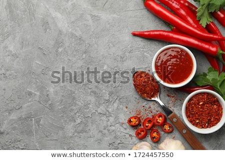 Hete saus beker voedsel peper niemand Stockfoto © Digifoodstock