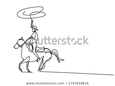 A horse with a hat Stock photo © bluering