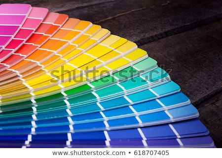 the palette with colored paints  Stock photo © OleksandrO