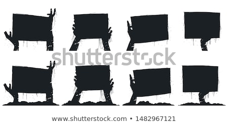 Zombies with empty signboards Stock photo © bluering