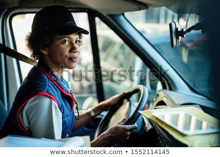 почтальон грузовик белый служба фон грузовика Сток-фото © bluering