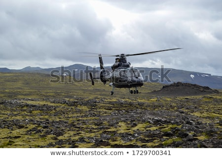 A helicopter about to land Stock photo © bluering