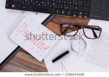 Date limite mot notepad stylo bureau crayon Photo stock © fuzzbones0