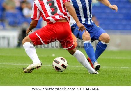 Energiczny piłkarz ilustracja biały piłka nożna student Zdjęcia stock © bluering