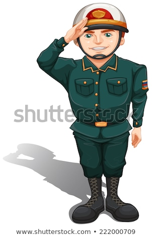 A soldier showing some respect Stock photo © bluering